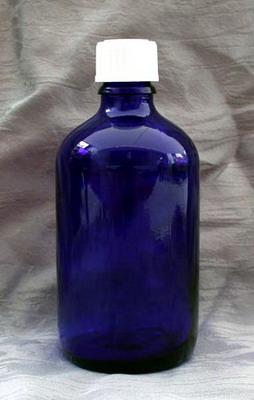 100 ml Blauglas-Flasche mit Tropfer