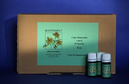 Bachblüten Komplett-Set 5 ml, Blütenwelt Keilholz