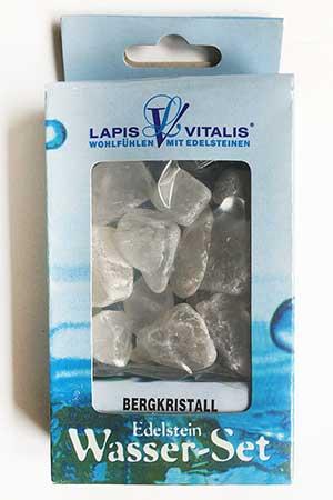 Edelstein Wasser-Set Bergkristall